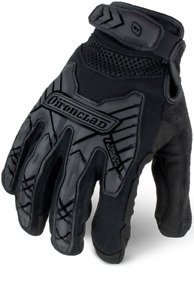 Ironclad Command Series Gloves Tactical Impact Black 12 Pack