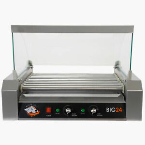 Hot Dog Electric Grill Roller Food Concession Bratwurst Sausages Breakfast Meat