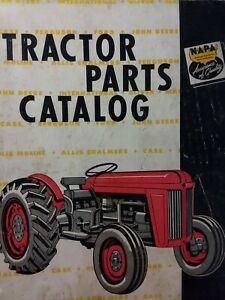 Napa 1958 Farm Tractor Parts Manual Catalog Case Ford John Deere Mf Ih Ac Oliver