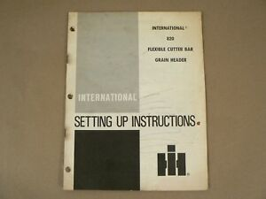 International Harvester 820 Flexible Cutter Bar Grain Header Owners Manual 1980