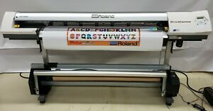 Roland Vp 540i 54 Versacamm Printer Cutter Only 233 Hours Of Print Time