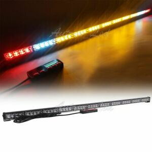 48 Amber Led Emergency Tow plow Truck Wrecker Brake cargo Light Strobe Lightbar