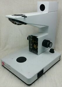 Leitz Wetzlar Ergolux Microscope Base W Motorized Nosepiece read Description