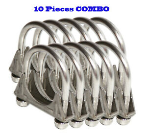 10 Pieces Combo 2 I D Universal Heavy Duty Exhaust Hanger 2 Ss U Bolt Clamp