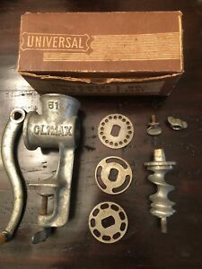 Vintage Universal Food And Meat Chopper No 1551 With Box New Britain Conn
