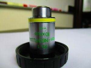 Zeiss Microscope Plan neofluar 10x 0 30 Phase 1 Objective