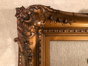 Genuine Newcomb Macklin Huge Antique Arts Crafts Picture Frame