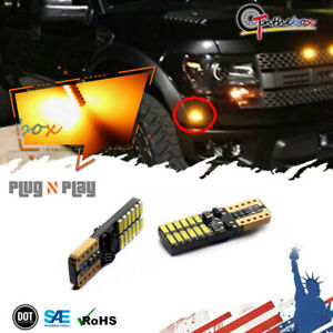 2pcs T10 194 Amber Led Front Sidemarker Lights Bulbs For 1992 2018 Ford F 150