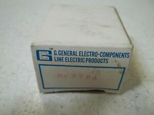 G general Electro components Mk5764 Relay New In Box