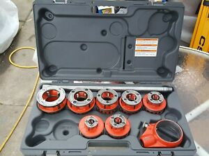 Ridgid Pipe Npt Die Set 36475 Exposed Ratchet Threader 12 r Ratcheting