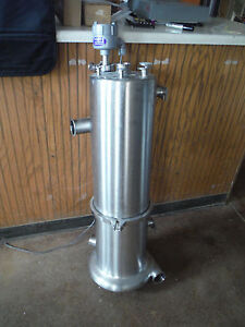 Stainless Sanitary Pump Powered Mixing Tank Tri clover Sight Glass Process View
