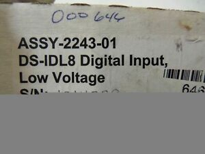Omnex Ds idl8 8 Channel Digital Input Module Assy 2243 01 new In Box