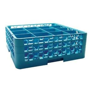 Carlisle Rg16 214 16 Compartment Opticlean Glass Rack And Extenders
