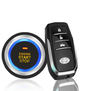 Car Pke Keyless Entry Engine Start Stop Push Button Alarm System Rfid Door Lock