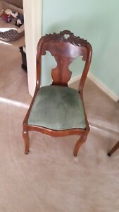 Carved Roswood Side Chairs Set Of 6 Victorian Civil War Vintage