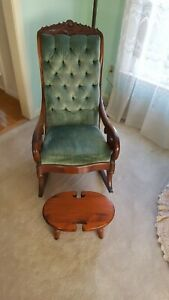 Rosewood Lincoln Rocking Chair Victorian Civil War Vintage