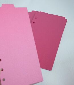 9 Shimmery Dark Pink Filofax Personal Kate Spade Size Dividers Monthly Top Tab