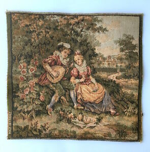 Vintage French Aubusson Wall Tapestry 10 5 X 10 Excellent Condition