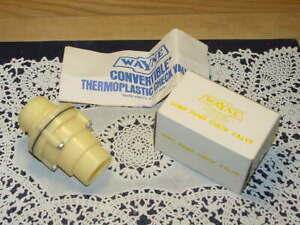 Wayne 55935 Sump Pump Check Valve 1 1 4 Npt Male To 1 1 4 1 1 2 Ips New