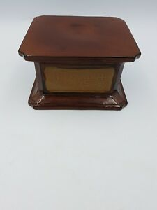 Chinese Shiwan Brown Clay Pottery Square Vase Figurine Pot Display Stand Base