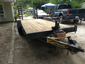 updated 2004 6 Ton Kaufman Equipment Trailer electric Brakes 4500lb Winch