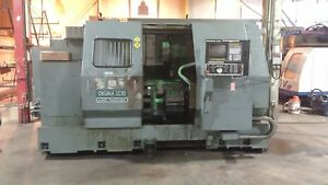 Okuma Lc30 Cnc Lathe Lathe With Tailstock Under Power See Video