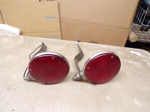 2 Old Griffin Lamp Tail Lights With Brackets