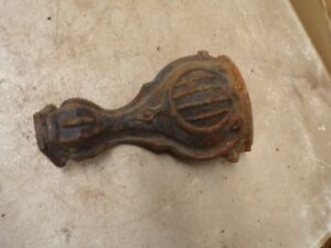 1 Fancy Old Cast Iron Wood Burning Stove Foot Foot