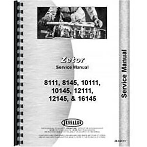 New Zetor 10145 Tractor Service Manual 10145 Only