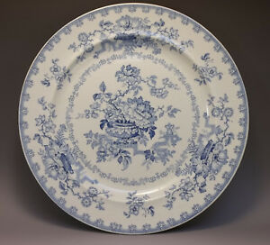 Antique English Ironstone China Nankin Jar Porcelain Blue Transferware Plate