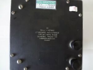General Radio Standard Inductance Type 106l Calibrated