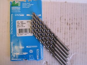 Lot Of 6 Chicago latrobe Taper Length Drill Bits Series 120wlpn Size 11 32