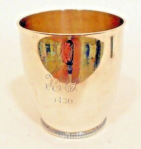 A Small Unseamed Coin Silver Beaker By William Moulton Iv Newburyport Ma