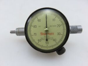 Starrett 81 241 Dial Indicator Gauge Gage Jeweled 250 Range 001 Grad