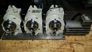 Yuasa Cnc Rotary Indexer Triple 5c Collet With Udnc 100 Control