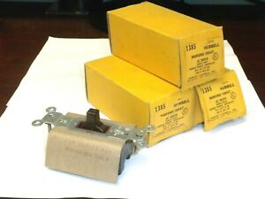 Hubbell 1385 Maintainted Contact Ac Switch 20a 277v Brown Nos lot Of 3