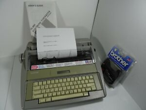 Brother Sx 4000 Electronic Typewriter W Lcd Display includes Manual No Cover