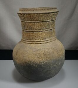 Korean Silla Dynasty Pottery Stoneware 9 75 Incised Jar 55403