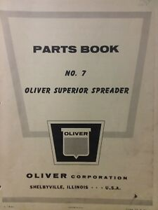 Oliver Superior No 7 Manure Spreader Farm Agricultural Tractor Parts Manual 7 b