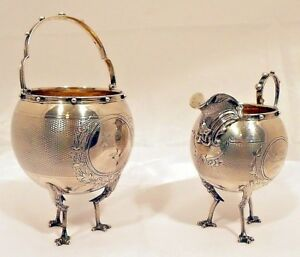 A Coin Silver Chicken Legs Or Mary Lincoln S Sugar Creamer By Gorham C 1859