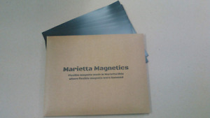 Marietta Magnetics 25 Magnetic Sheets Of 8 X 10 Adhesive 30 Mil Extra Thic