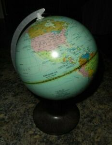 Vintage 1982 Danish Earth Globe By Scanglobe