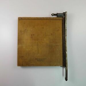 Vintage Trimmer Mfg Co Portland Oregon Guillotine Paper Cutter Ang Military