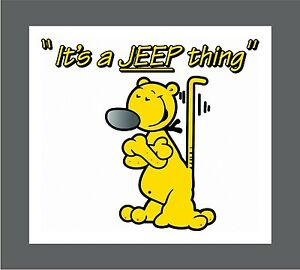 Eugene The Jeep Popeye Jeep Offroad Decal Sticker Free Shipping