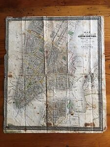 1835 Map Of New York City Nyc Drawn By D H Burr Published By J Disturnell