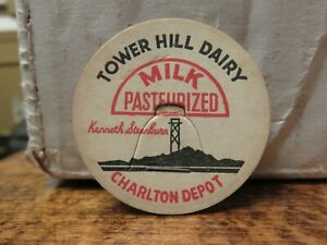 Older TOWER HILL DAIRY (CHARLTON DEPOT) PASTEURIZED MILK LID