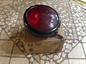 Early Red Turn Lamp Kd 787 Glass Sealed Beam Vintage Auto Truck 6volt Nib Light