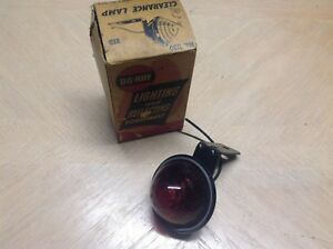 Vintage Do Ray Clearance Light Nib No 1130 Early Truck Bus Red Glass 12volt