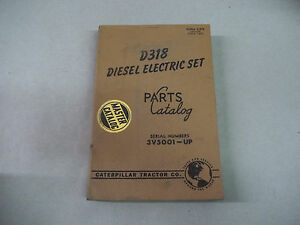 Caterpillar Tractor D318 Diesel Electric Set Parts Catalog Serial No 3v5001