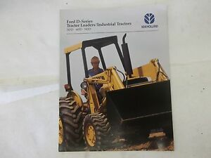 Ford New Holland 345d 445d 545d Loader Industrial Tractor Brochure